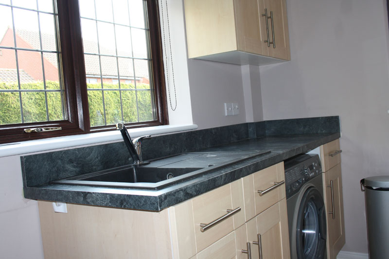 Utility Room U2013 New Worktop, Upstand, And Sink Fitted