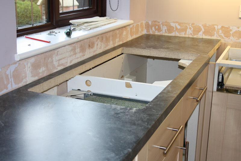 Superbe New Worktop Sink Cutout. Kitchen Worktop Cutting ...